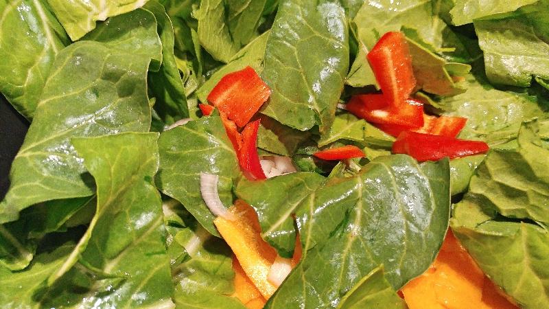 Mangold-Karotten-Paprika-Tarte