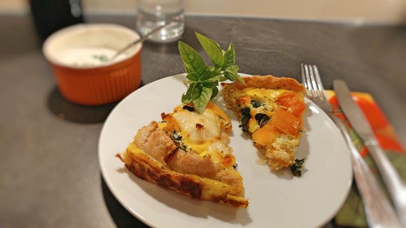 Mangold-Karotten-Paprika Tarte